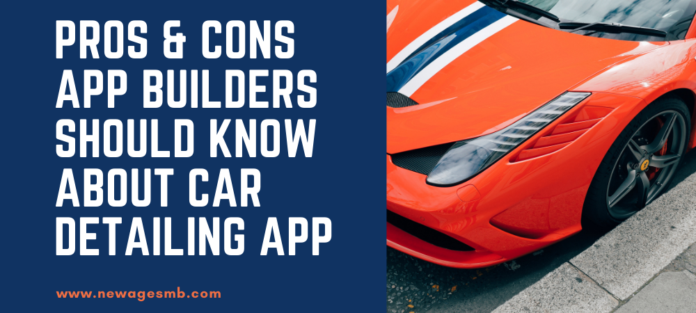 Pros & Cons App Builders in NYC Should Know about Car Detailing App