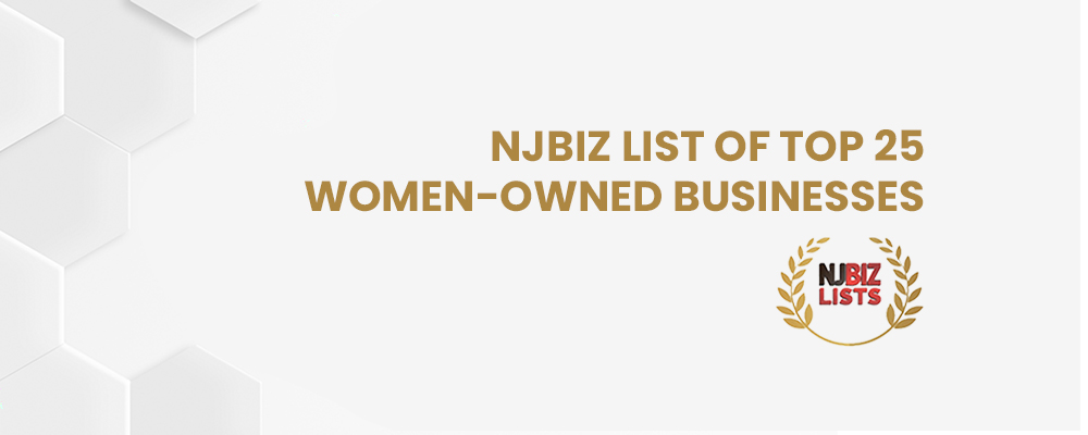 NewAgeSys Inc. is in the NJBIZ list of Top 25 Women-Owned Businesses
